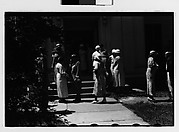 [People Leaving Church, Probably Vicinity Danbury, Connecticut]