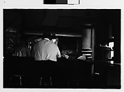 [Man Seated at Bar, From Behind, New York City]