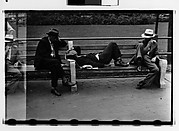 [Men on Park Benches, Union Square, New York City]
