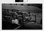 [Young Couple in Parked Open-Air Car, Ossining, New York]