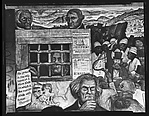 """[Detail of """"The Conflict Over Slavery"""" Panel of Diego Rivera's Mural for the New Worker's School, New York City]"""