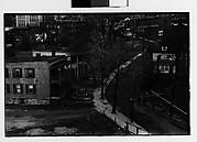 [Houses on Curving Hillside Street with Elm Trees, Ossining, New York]