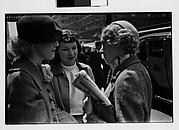 [Three Women in Conversation on Street, New York City?]