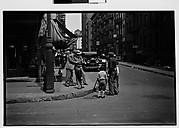 [Tintype Photographer and Group on Street Corner, New York City]