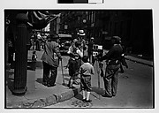 [Tintype Photographer and Group on Street Corner, New York City]