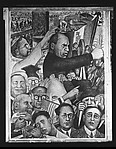 "[""Mussolini"" Panel of Diego Rivera's Mural for the New Worker's School, New York City]"