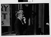 [Old Woman on Sidewalk, New York City]