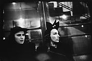[Subway Passengers, New York City: Two Women in Hats on Times Square Shuttle]