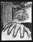 "[Detail of J.P. Morgan's Hand from ""The Civil War"" Panel of Diego Rivera's Mural for the New Worker's School, New York City]"