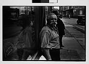 [Man with Handlebar Moustaches on Sidewalk, Ossining, New York]