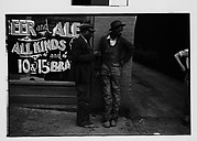 [Two Men in Front of Liquor Store Window, Georgia]
