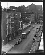 [View of East 92nd Street, From Roof of Evans's Apartment Building, New York City]