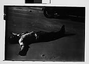 [Peter Sekaer Lying on Sand, Louisiana or Mississippi]