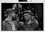 [Two Young Men at Parade, Johnstown, Pennsylvania]