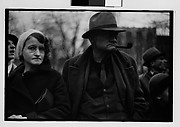 [Old Man and Woman Watching Parade, Johnstown, Pennsylvania]