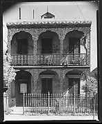 [House with Cast-Iron Grillwork on Balconies, New Orleans, Louisiana]