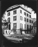 [Italianate Town House with External Curved Staircase, Savannah, Georgia]