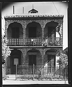 [Town House with Cast-Iron Balconies and Fence in French Quarter, 529 Esplanade Avenue, New Orleans, Louisiana]