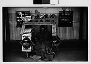 [Street Preacher and Wagon on Sidewalk, Memphis, Tennessee]
