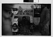 [Street Preacher and Wagon on Sidewalk, Memphis, Tennessee]
