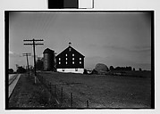 [Farm Buildings and Silo, From Road, Illinois?]