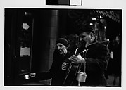 [Blind Street Musicians on Sidewalk, Chicago, Illinois]