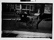 [Two Young Women in Horse-Drawn Carriage, Milledgeville, Georgia]