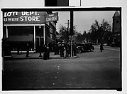 [Crowd on Street Corner, Milledgeville, Georgia]