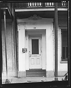 [Greek Revival Doorway with Sign for Furnished Rooms, New Orleans, Louisiana]