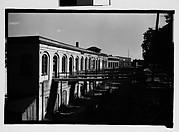 [Waterfront Warehouse Buildings with Footbridges, Savannah, Georgia]