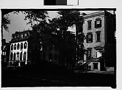 [Italianate Town Houses, From Across Mall, Savannah, Georgia]