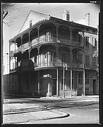 [Cast-Iron Balconied House on Corner, New Orleans, Louisiana]
