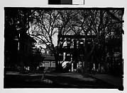 [Italianate Town Houses on Street, From Automobile, Savannah, Georgia]