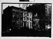 [Row of Houses on Street, From Across Mall, Savannah, Georgia]