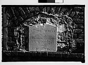 [Wall Tomb Plaque, New Orleans, Louisiana]