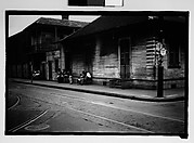 [People Seated on Stoops in French Quarter, New Orleans, Louisiana]