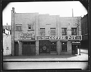 [Façade of Western Coffee Pot Restaurant and Bar, Waterfront Area, New York City]