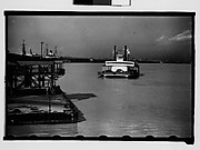 "[Ferryboat ""Algiers"" with Dock in Foreground, New Orleans, Louisiana]"