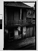 [Building in French Quarter with Ground Floor Printing Shop, From Balcony, New Orleans, Louisiana]