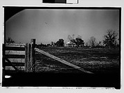[Plantation House in Field, From Automobile, New Orleans Vicinity, Louisiana]