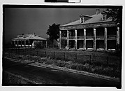 [Two Greek Revival Houses (Uncle Sam?), From Road, St. James Parish, Louisiana]