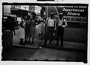 [Bystanders on Street Corner, Natchez, Mississippi]