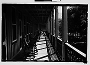 [Rocking Chairs on Hotel Porch, Bedford Springs, Pennsylvania]