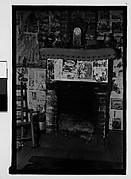 [Interior with Newspaper-Covered Fireplace, Hale County?, Alabama]