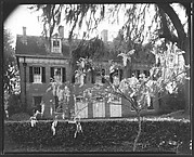 [Rear View of Brick Greek Revival House, Residence of Weeks Hall, New Iberia, Louisiana]