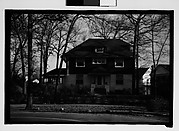 [Eleven 35mm Film Frames on Two Segments of Uncut Roll of Walker Evans's Childhood Home at 430 Woodstock Avenue, Kenilworth, Illinois, A Chicago Suburb]