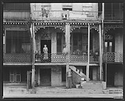 [Back Porches of Balconied Houses, Mobile, Alabama]
