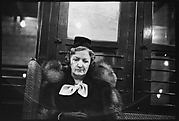 [Subway Passenger, New York City: Woman in Scarf and Fur Collar]