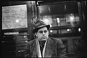 [Subway Passenger, New York City:  Man in Hat and Scarf]