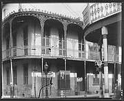 [Corner House with Cast-Iron Balcony, New Orleans, Louisiana]